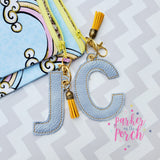 Digital Download - Alpha Monogram XL Charms - in the hoop machine embroidery ITH pattern
