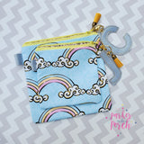 Digital Download - Square Top Zipper Bags - in the hoop machine embroidery ITH pattern
