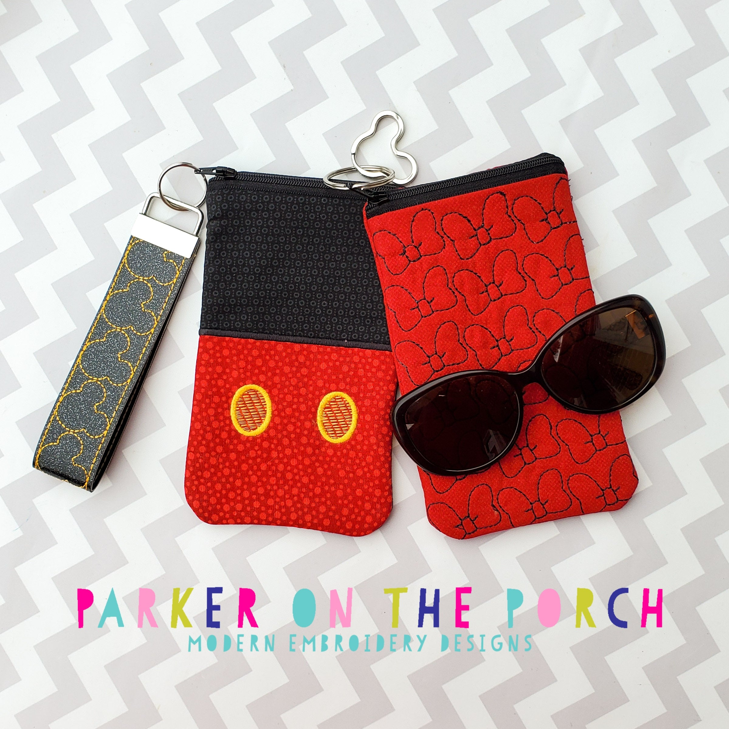 Digital Download - Magical Sunglasses Top Zipper Bag Set - in the hoop machine embroidery ITH pattern