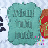 Digital Download - Magical Mortals Banner - in the hoop machine embroidery ITH pattern