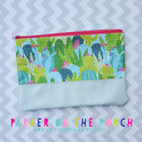 Digital Download - The Horizon Zipper Bag - in the hoop machine embroidery ITH pattern
