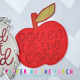 Digital Download- Magical Rotten to the Core Banner - in the hoop machine embroidery ITH pattern