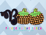 Digital Download- Boo Banner Set - in the hoop machine embroidery ITH pattern