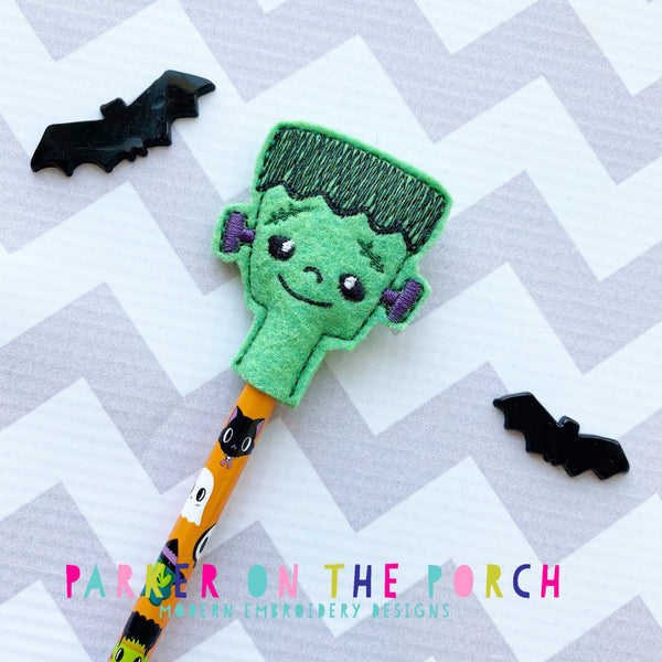 Digital Download- Frank Pencil Topper - in the hoop machine embroidery ITH pattern