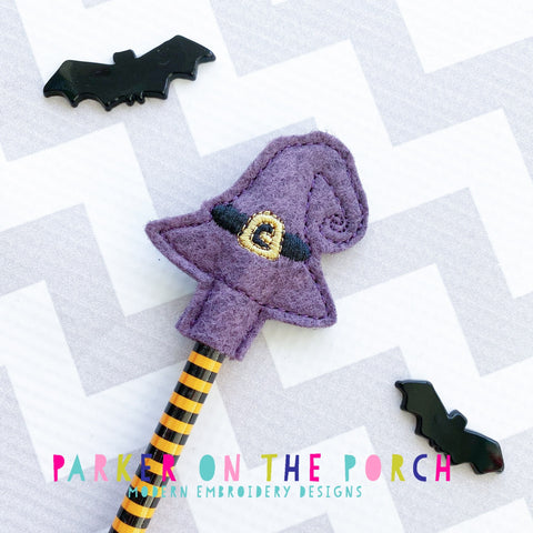 Digital Download- Witch Hat Pencil Topper - in the hoop machine embroidery ITH pattern
