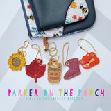Digital Download - Basic Fall Charm Set - in the hoop machine embroidery ITH pattern