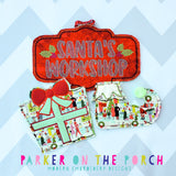 Digital Download- Elf Shoe Banner - in the hoop machine embroidery ITH pattern
