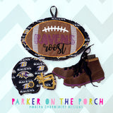 Digital Download- Cleat Banner - in the hoop machine embroidery ITH pattern