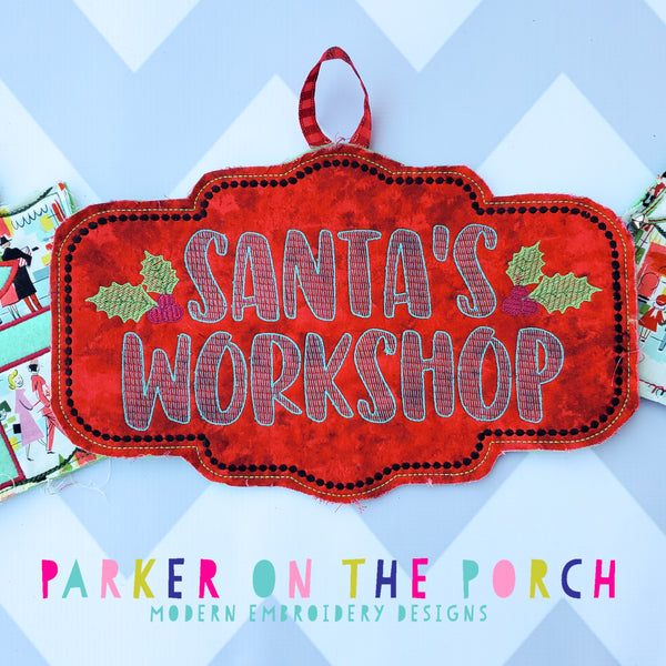 Digital Download- Santa's Workshop Sign Banner