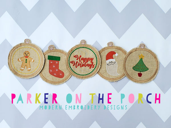 Digital Download- Embroidery Hoop Christmas Banner Set