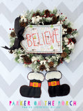 Digital Download- Believe Banner BUNDLE - in the hoop machine embroidery ITH pattern