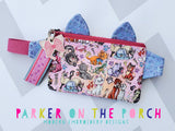 Digital Download- Kitty Fanny Pack Zipper Bag - in the hoop machine embroidery ITH pattern