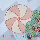Digital Download- Peppermint Banner - in the hoop machine embroidery ITH pattern