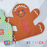 Digital Download- Gingerbread Banner - in the hoop machine embroidery ITH pattern