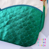 Digital Download- Magical Mermaid Princess Clutch Zipper Bag - in the hoop machine embroidery ITH pattern
