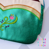 Digital Download- Magical Snow Sister Clutch Zipper Bag - in the hoop machine embroidery ITH pattern