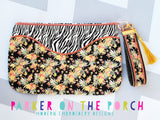 Digital Download- The Daybreak Top Zip Full Front Applique Zipper Bag - in the hoop machine embroidery ITH pattern