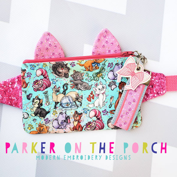 Digital Download- Kitty Fanny Pack Zipper Bag