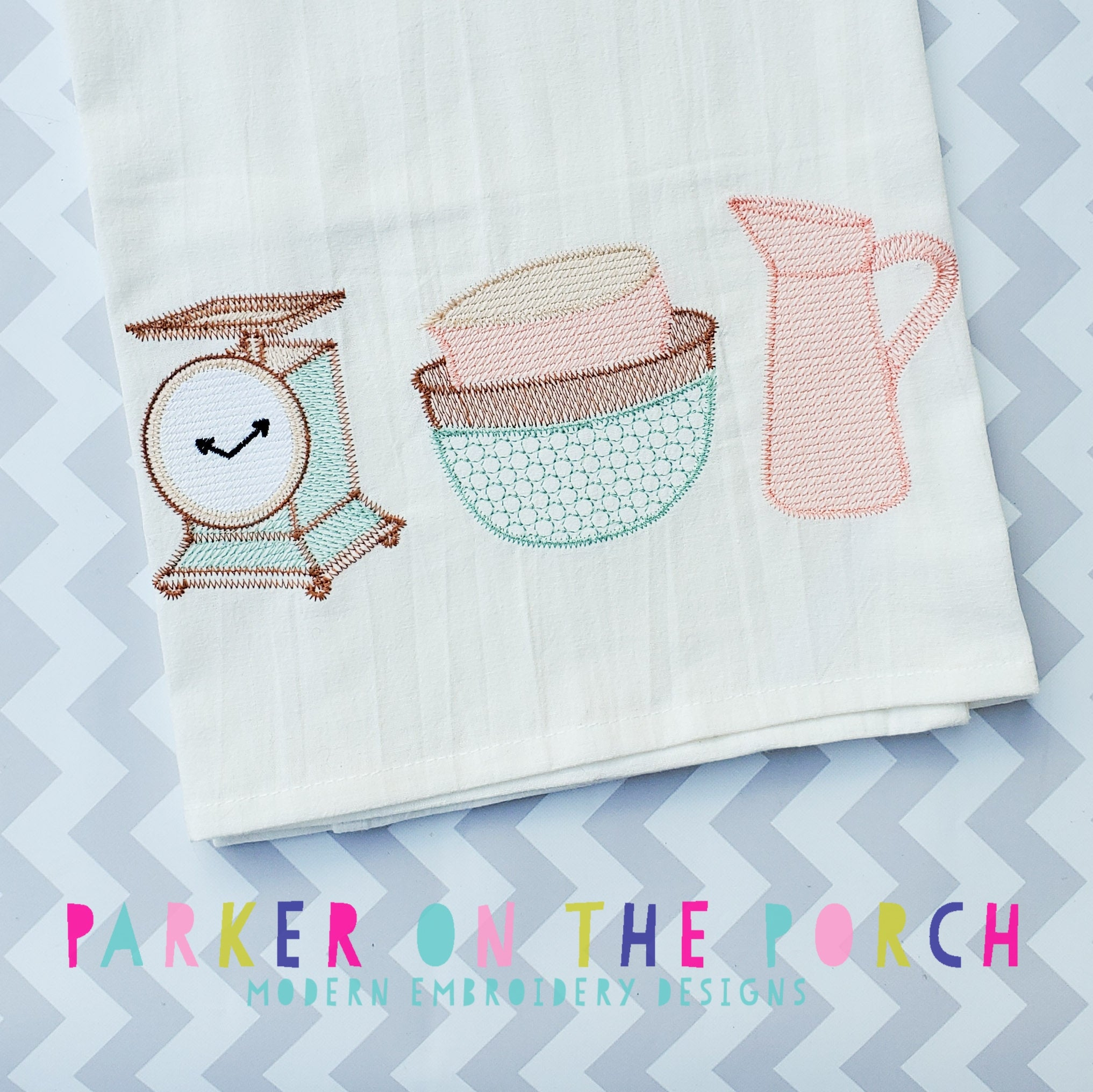 Digital Download- Farmhouse Sketch Trio- Embroidery Fill - in the hoop machine embroidery ITH pattern