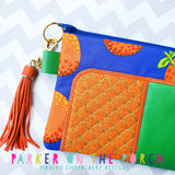 Digital Download- #3 Zipper - Trendsetter Top Zip Bag - in the hoop machine embroidery ITH pattern