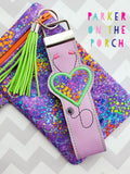 Digital Download- Medical Keyfob Set - in the hoop machine embroidery ITH pattern