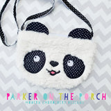 Digital Download- Top Zip Panda Zipper Bag - in the hoop machine embroidery ITH pattern