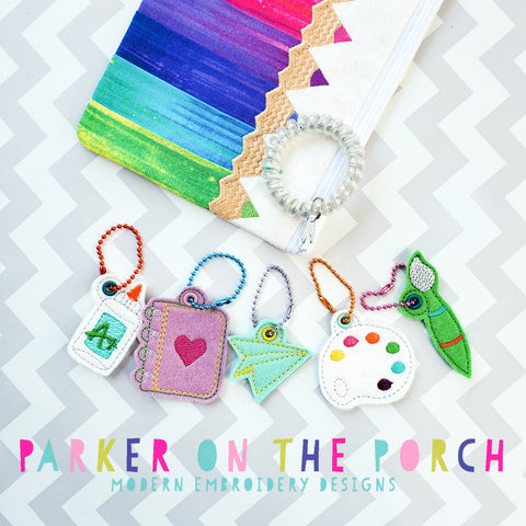 Digital Download - School Charms - Set 2 - in the hoop machine embroidery ITH pattern