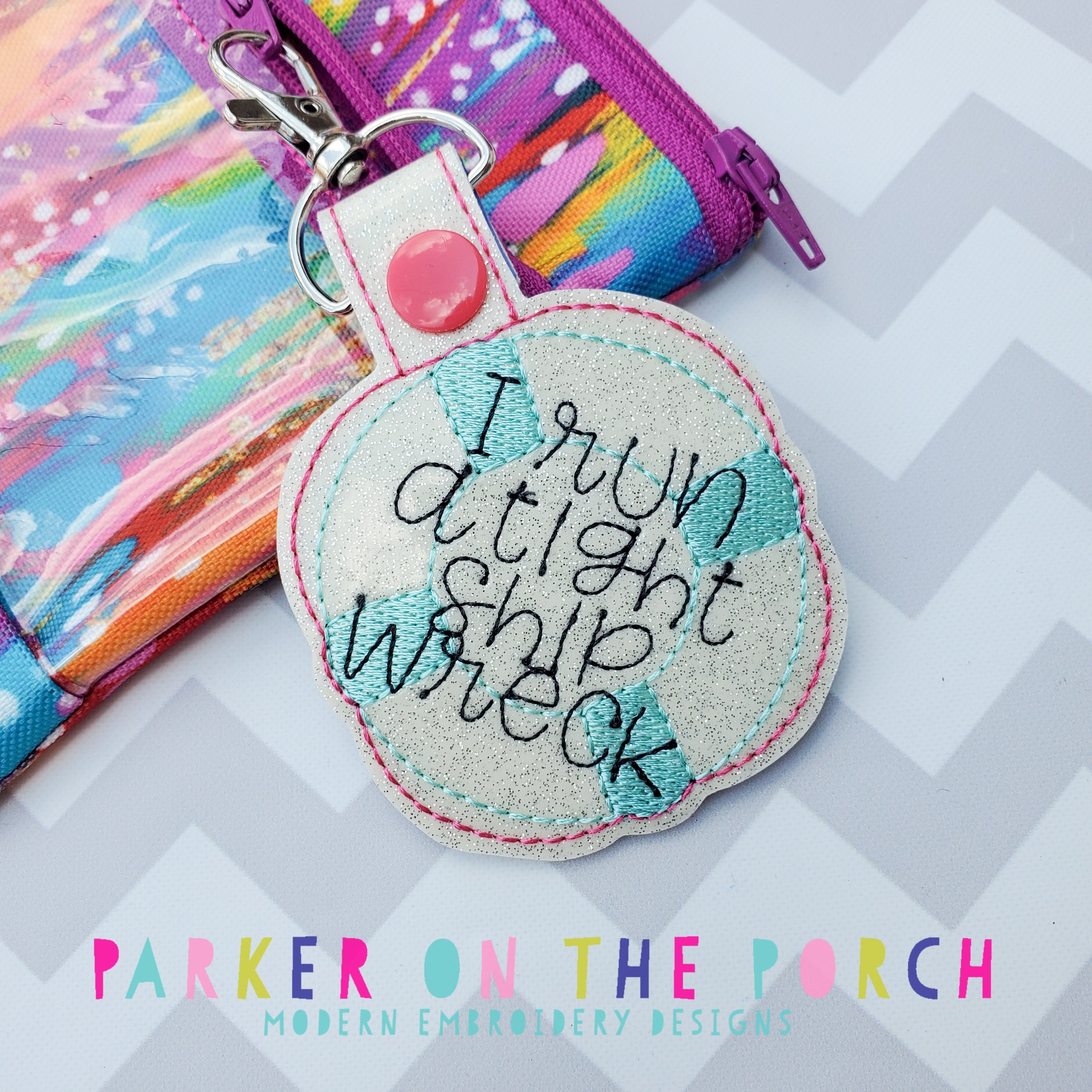 Digital Download- I Run a Tight Ship Wreck Snaptab - in the hoop machine embroidery ITH pattern