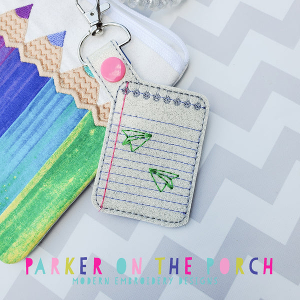 Digital Download - Notepad Snaptab - in the hoop machine embroidery ITH pattern