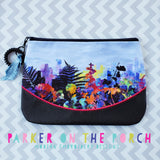 Digital Download - Clutch 2.0 Top Zip Zipper Bag - in the hoop machine embroidery ITH pattern