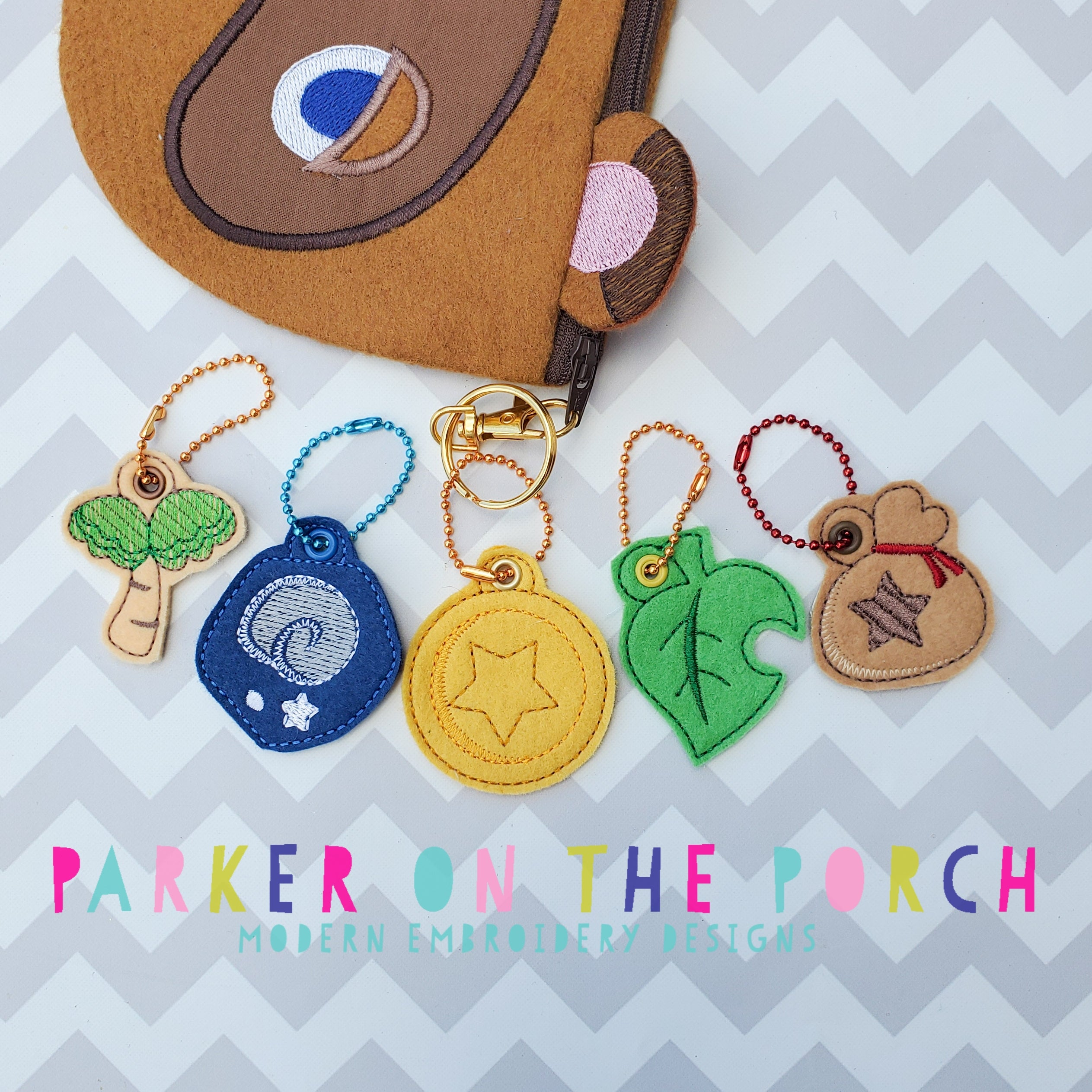 Digital Download - Village Charms - Set 1 - in the hoop machine embroidery ITH pattern