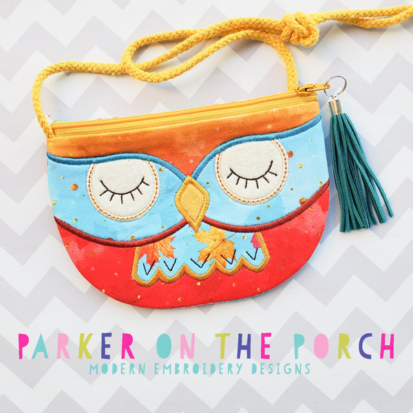 Digital Download- Owl Top Zip Zipper Bag