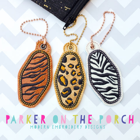 Digital Download - Hotel Key Animal Print Charm Set