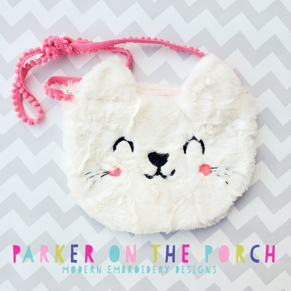 Digital Download- Top Zip Kitty Zipper Bag