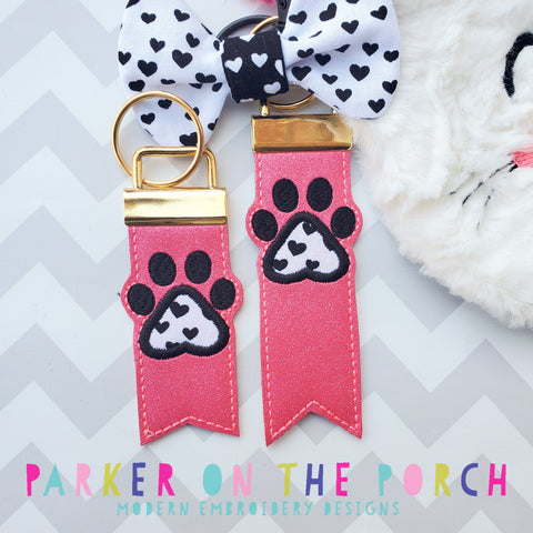 Digital Download- Monogram Flag Fob Keyfob- Paw