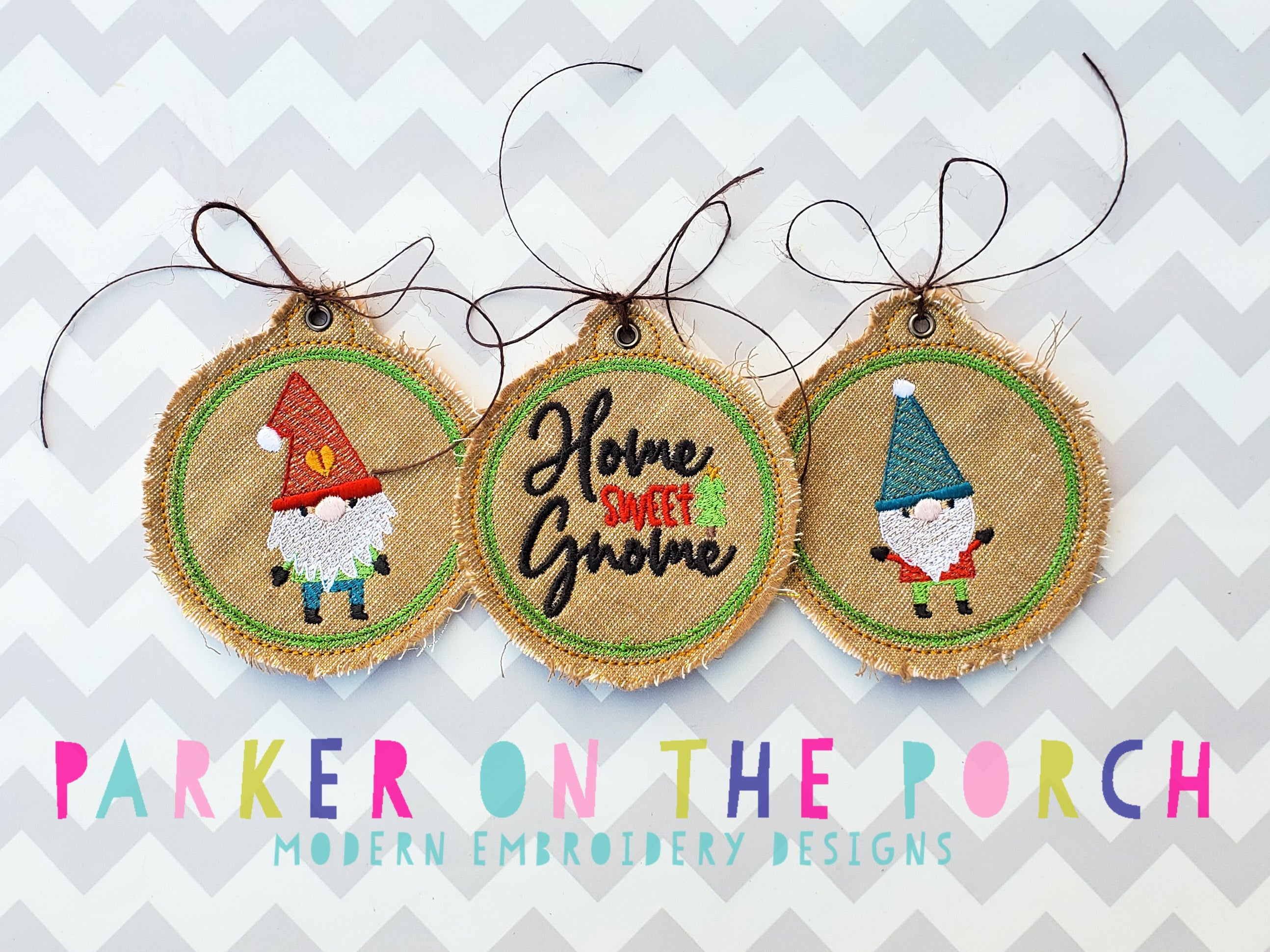 Digital Download-  Gnome Holiday Ornaments 2020