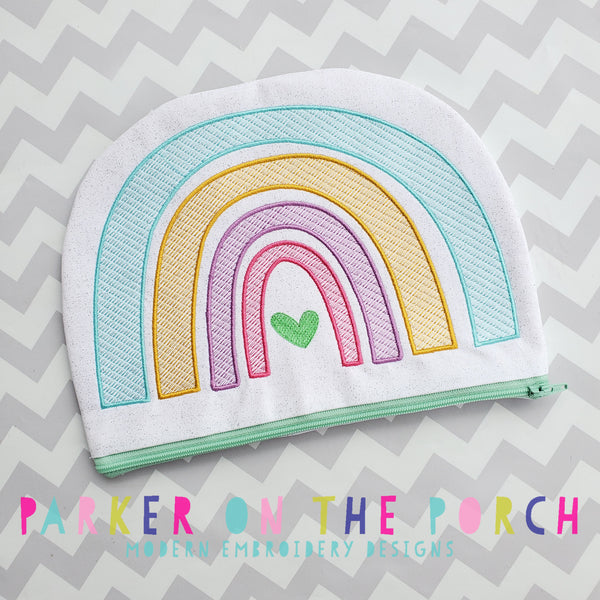 Digital Download- Rainbow Top Zip Zipper Bag