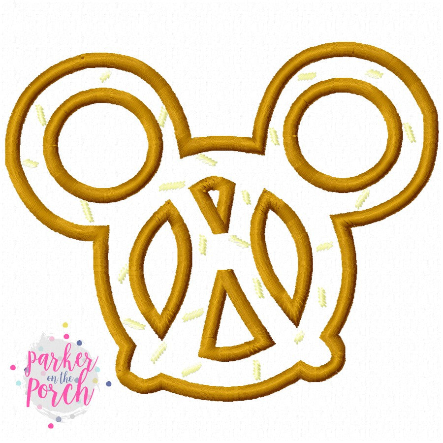 Digital Download- Magical Snacks Pretzel Applique - in the hoop machine embroidery