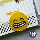 Digital Download- Emoji 2.0 Planner Clip Set Of 4 - in the hoop machine embroidery