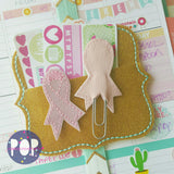 Digital Download-  Awareness Ribbon Feltie & Planner Clip - in the hoop machine embroidery
