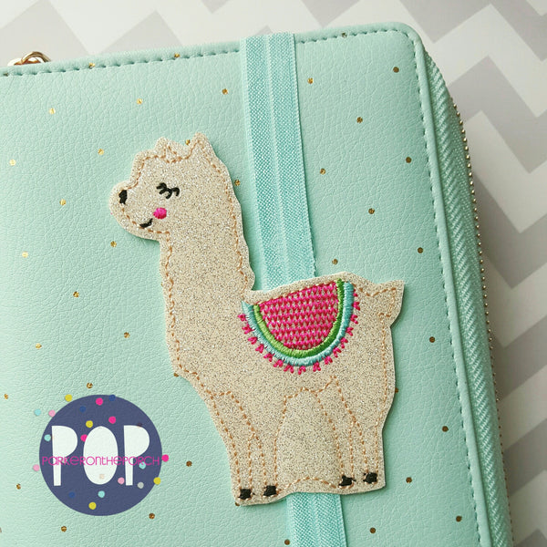 Digital Download - Llama Planner Band - in the hoop machine embroidery