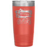 POP Swag- I'd Rather Be Quilting - 20 oz Tumbler - in the hoop machine embroidery ITH pattern