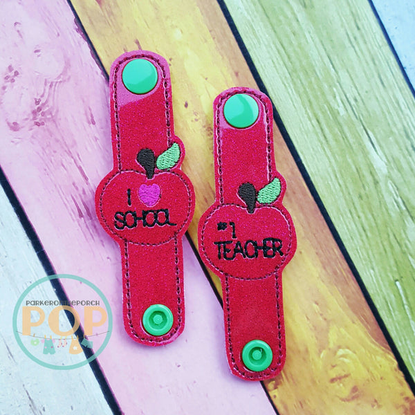 Digital Download- Cord Keeper Apples - in the hoop machine embroidery