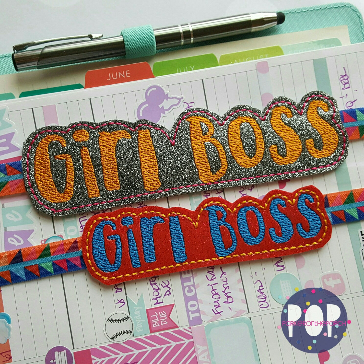 Digital Download- Planner Band - Girl Boss (2 Sizes & 2 Styles) - Parker on the Porch