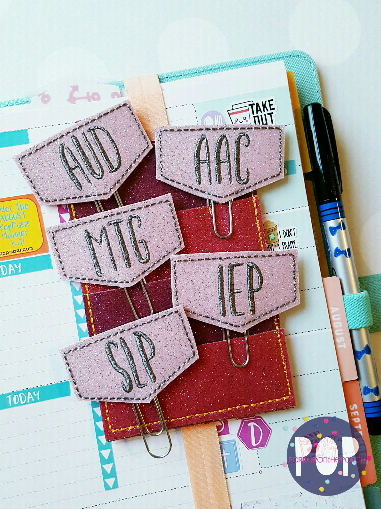 Digital Download-  So to Speak Set Of 5 Planner Clips (Speech Therapy) - in the hoop machine embroidery ITH pattern