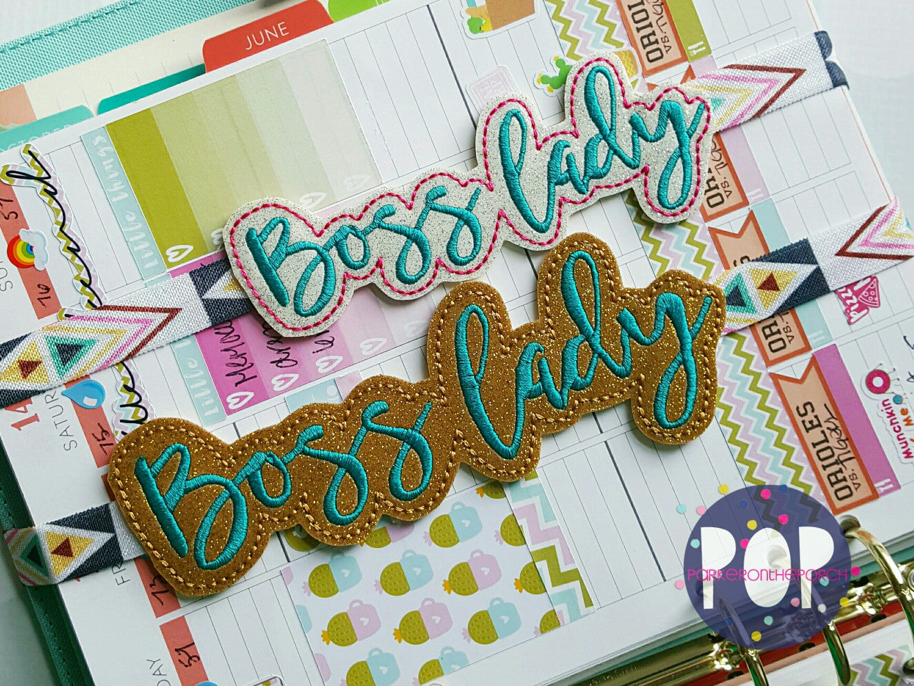 Digital Download- Planner Band - Boss Lady ( 2 Sizes & 2 Styles ) - Parker on the Porch