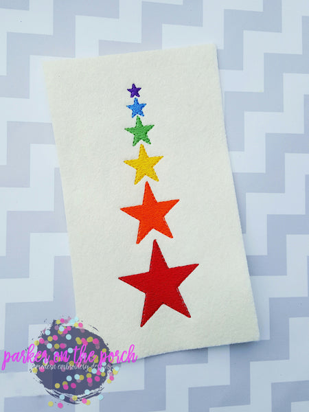Digital Download- Filled Stars set of 6 - in the hoop machine embroidery ITH pattern
