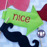 Digital Download- ITH Photo Props Set of 4 (words NOT included) - in the hoop machine embroidery