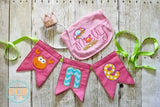 Digital Download- ITH Bunting Banner- (2 sizes) - in the hoop machine embroidery ITH pattern