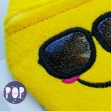 Digital Download- Emoji Zipper Bags Set 1 - in the hoop machine embroidery